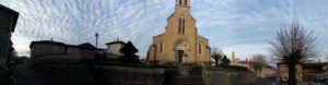 Eglise et montée St Vincent à Mogneneins