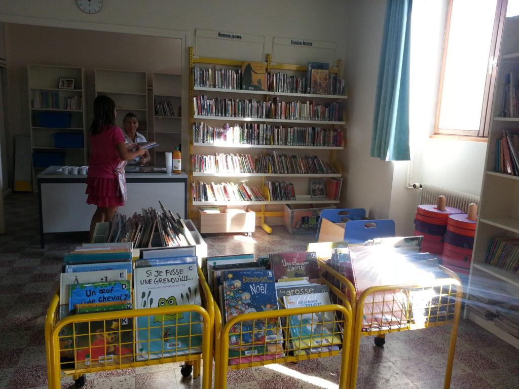 L'accueil de la bibliothèque de Mogneneins-Peyzieux-sur-Saône