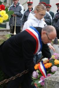 Commémoration de l'Armistice à Mogneneins