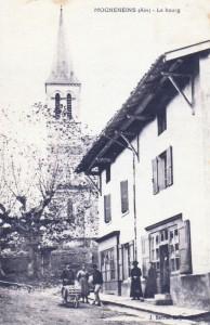 Vue du centre du village de Mogneneins