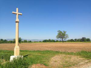 Croix de St Alban située sur le plateau de Mogneneins (nord ouest de la commune)
