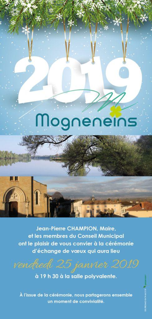 Bonne année à Mogneneins - Invitation à la cérémonie des vœux 2019