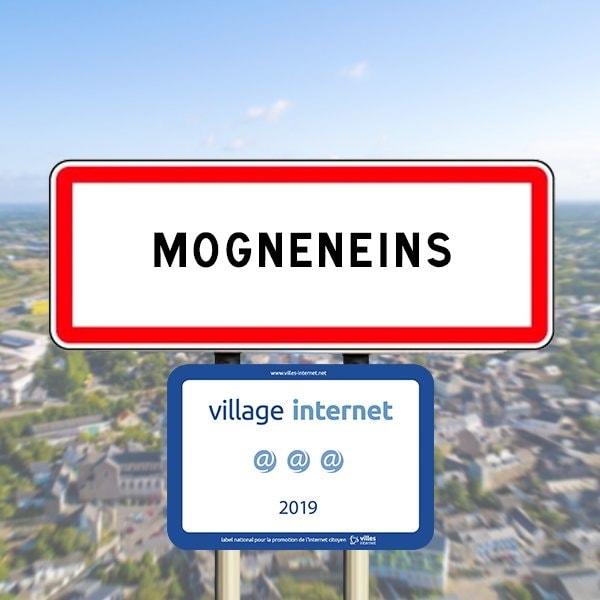 """Mogneneins, village labellisé @@@ par l'association """"Villes Internet"""""""