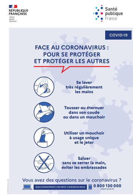 Consignes et information sur le coronavirus